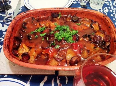 Karl's Basque Chicken in a Clay Pot II