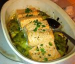 Karl's Roasted Salmon with Leeks