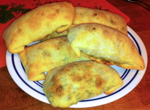 Karl's Samsa with Spinach and Paneer (baked samosa)