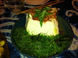 Karl's Fresh Tofu with Bonito Shavings