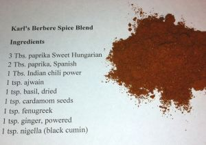 Karl's Berbere Ethiopian Spice Blend