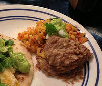 Karl's Mexican Rice and Karl's Refried Beans