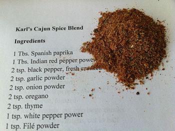 Karl's Cajun Spice Blend