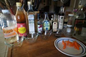 Testing for the right vinegar and oil