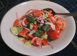 Karl's Central Asian Tomato and Cucumber Salad