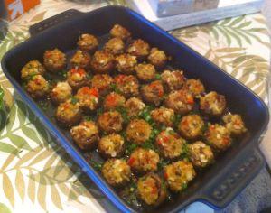 Karl's Scallop Stuffed Mushrooms