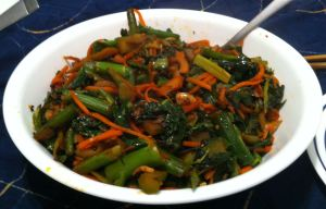 Karl's Spicy Chinese Broccoli, Carrot and Bamboo Stir Fry with Sichuan Pickles