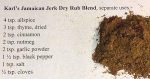 Karl's Jamaican Jerk Dry Rub Blend