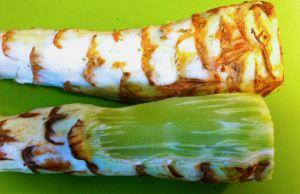 Peeling Lettuce Stem