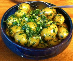 Claudia's Parsley Potatoes