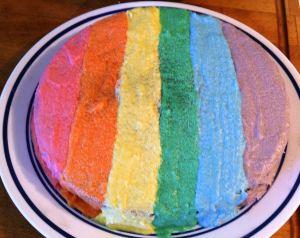 Eilene's Rainbow Chocolate Cake