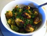 Karl's Roasted Brussels Sprouts with Lime and Chives