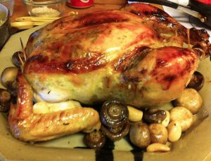 Karl's 40 Clove Garlic Chicken with Mushrooms