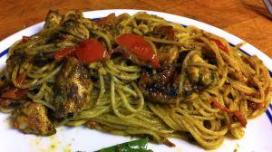 Karl's Chicken Pesto with Angel Hair Pasta