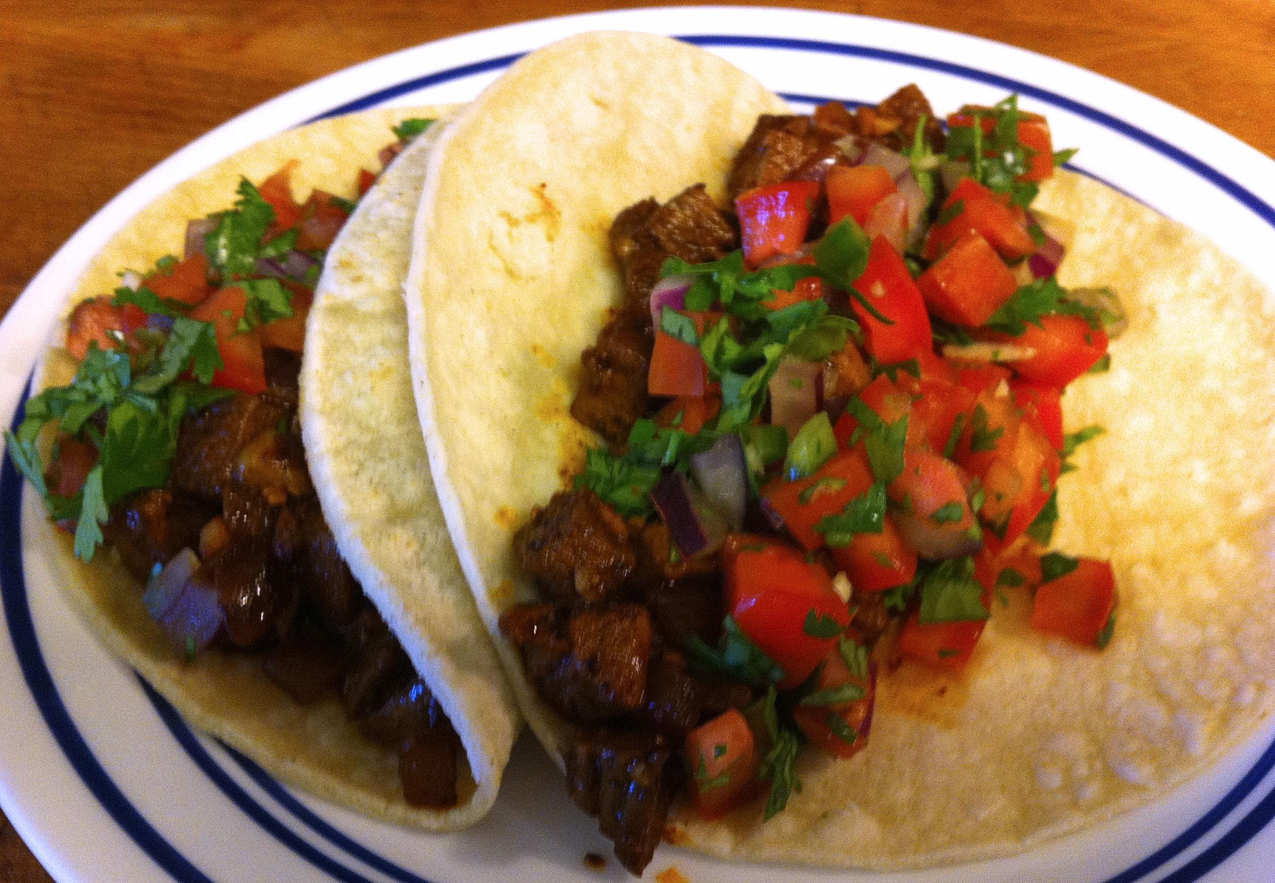 Beef Tacos De Lengua Recipe — Dishmaps
