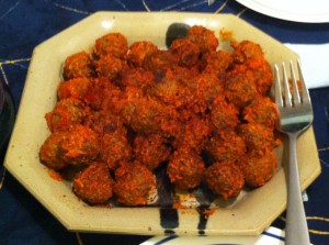 Karl's Kūbide (Kofta) Meatballs in Red Pepper Sauce