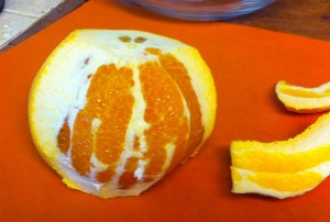 Peeling the orange