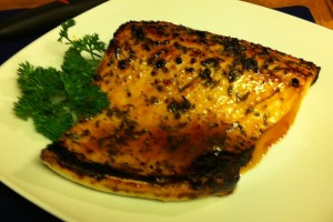 Karl's Broiled Salmon with Honey Lemon Glaze