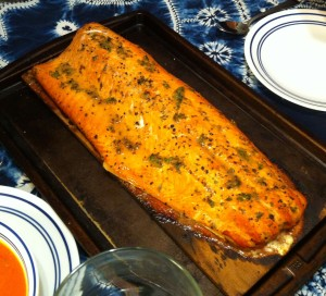 Karl's Drunken Salmon with Irish Honey Lemon Glaze