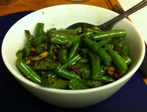 Karl's Garlic Thyme Green Beans II