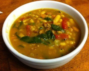 Karl's Italian Sausage, Beans and Barley Soup