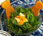 Karl's Orange and Pear Spinach Salad with Lime Vinaigrette