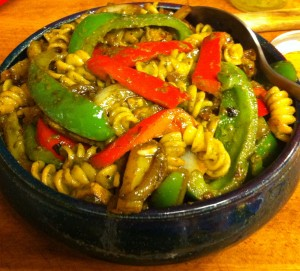 Karl's Pepper Chicken Pesto with Rotini