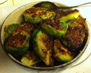 Karl's Roasted Brussels Sprouts with Onion and Garlic