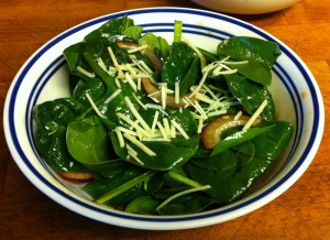 Karl's Spinach Side Salad