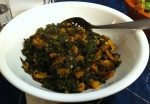 Karl's Moroccan Kale and Mushrooms