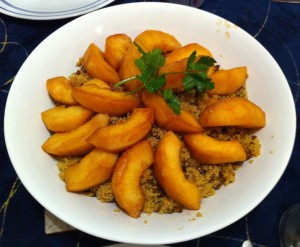 Karl's Moroccan Quince and Green Lentil Pilaf