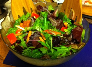Karl's Mesclun Salad with Red Raspberry Balsamic Dressing