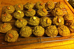 Karl's Almond Banana Oat Mini-muffins