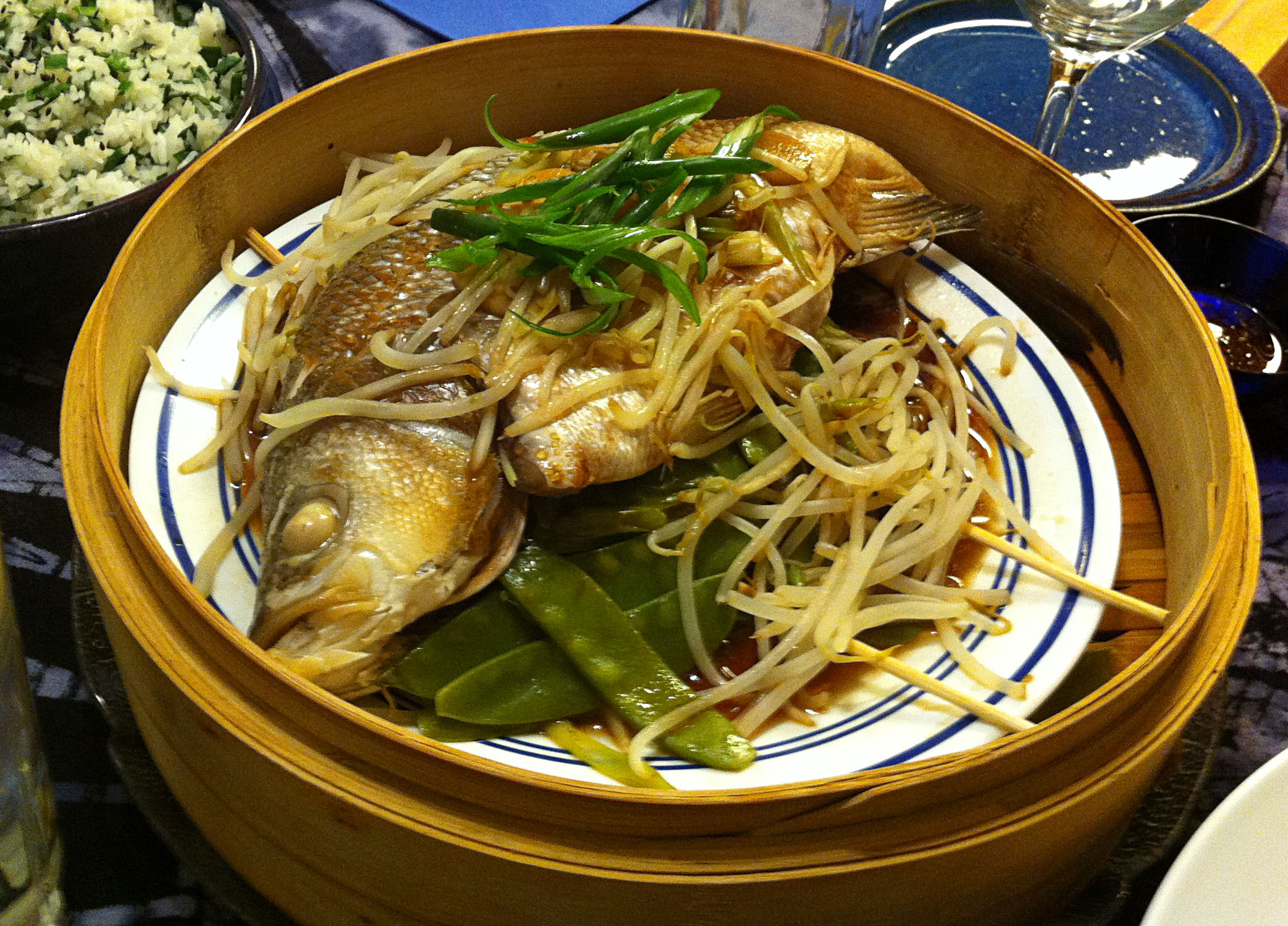 Karl s chinese whole steamed fish ii jabberwocky stew for Steamed whole fish