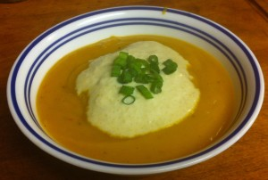 Karl's Curried Sweet Potato Soup with Apple Crème Fraîche