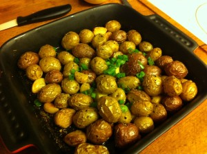 Karl's Rosemary Roasted Marble Potatoes and Whole Garlic