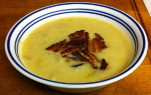 Karl's Scallop Soup with Bacon