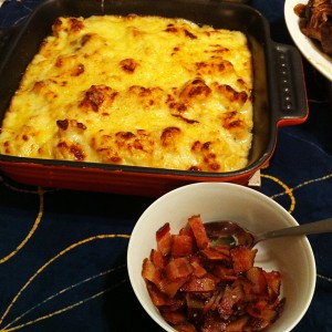 Karl's Cauliflower Swiss Au Gratin with Crispy Bacon