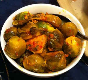 Karl's Chinese Chili Roasted Brussels Sprouts