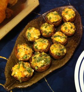Karl's Mushrooms Stuffed with Szechuan Shrimp
