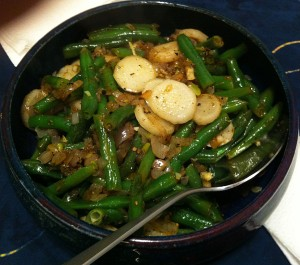 Karl's Sage Turnips and Green Beans with Orange Marmalade