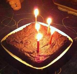 Jan's Chris' Birthday Brownie