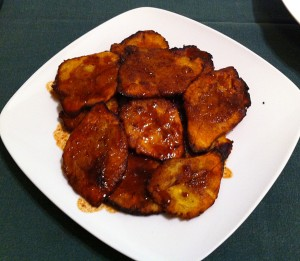Karl's Fried Plantains with Saville Sour Orange Sauce