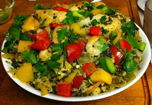 Karl's Mediterranean Wild Rice Pilaf with Chicken and Shrimp