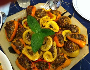 Karl's Moroccan Lamb Stuffed Artichokes and Peppers