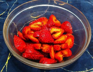 Karl's Quick Variation of Miriam's Balsamic Strawberries