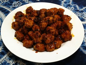 Karl's Hoisin Turkey Meatballs