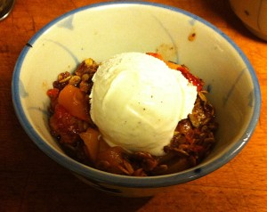 Karl's Peach and Strawberry Crisp