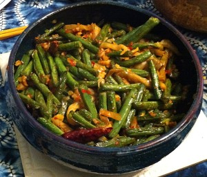 Karl's Sichuan Dry Fried Green Beans