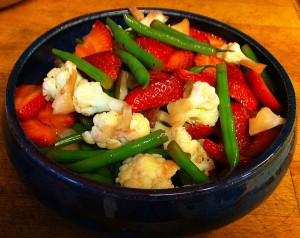 Karl's Strawberry Vinaigrette Cauliflower and Green Beans